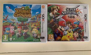 Lote 2 juegos Nintendo 3DS. No hago envíos.