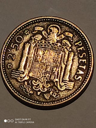 Moneda 2,50 pesetas año 1953