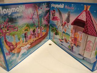 2 Playmobil Barco Hadas y Castillo Princesa Pegasu