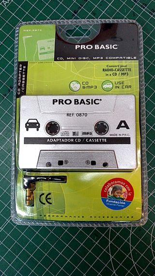 Adaptador audio para cassette