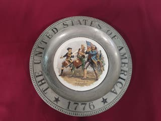 plato cerámica antigua USA