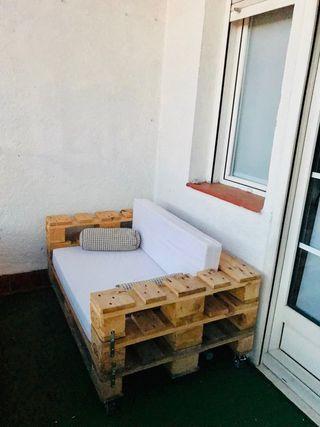 Sofá palet terraza