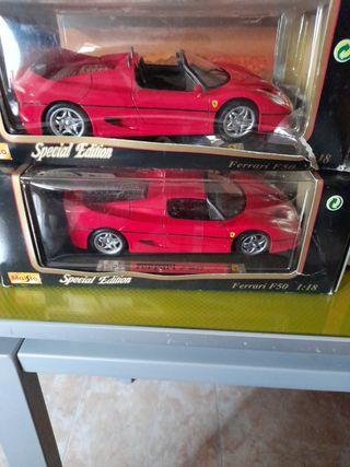 coches Ferrari F50 colección escala 1:18