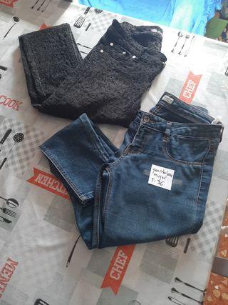 2 pantalones de mujer talla 36