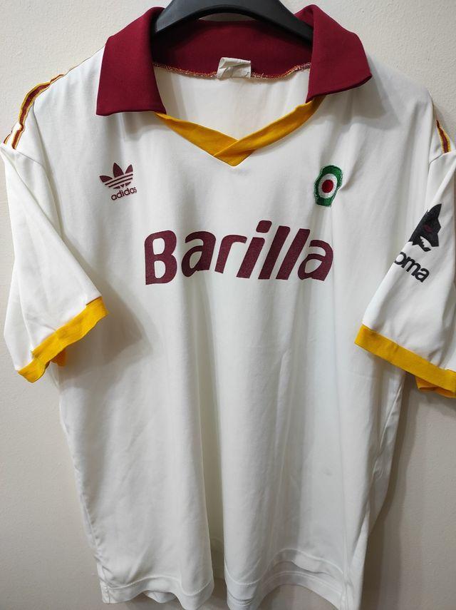 huella dactilar Viscoso delicadeza  ADIDAS AS Roma 1991-1992 Barilla de segunda mano en Zaragoza en WALLAPOP