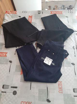 3 pantalones mujer talla S