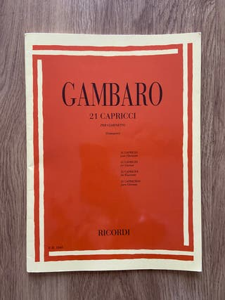 Gambaro 21 para clarinete