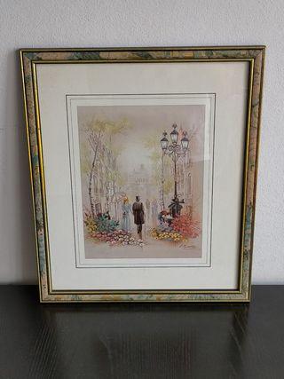 cuadro Murillo lamina reproduccion pintor . 39.3x3