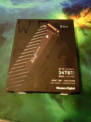 nvme ssd wd_black disco duro con disipador d calor