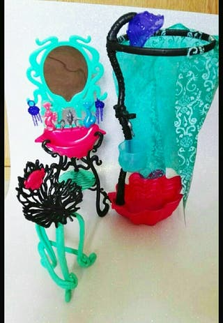 Set de baño de Lagoona blue Monster high. en perfe