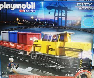 Playmobil tren de mercancías con radiocontrol