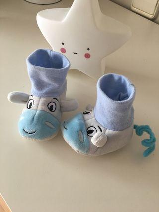 3x2! Originales Patucos zapatillas bebé 0-6 meses