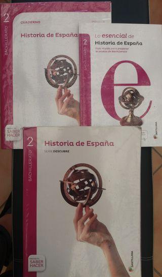 Libros de texto Historia de España 2º Bachillerato