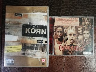lote KORN, dvd y cd (edición limitada)