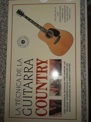 La técnica de la guitarra country