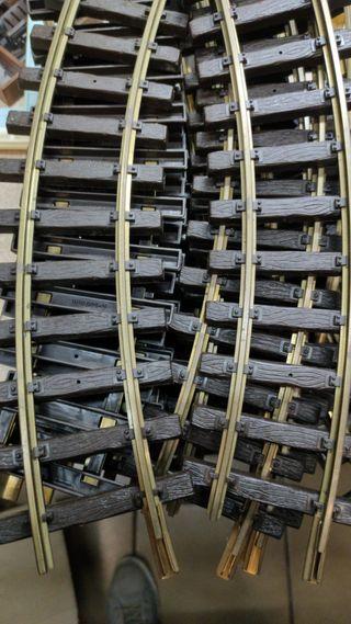 vías de tren curvas Playmobil