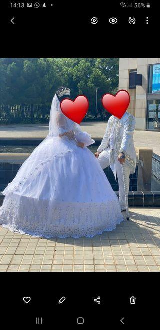 vendo traje de novia y de novio
