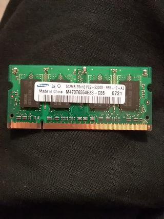 Samsung 2 memoria RAM 512mb 2rx16 pc2-5300s-555-12