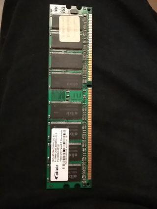 Memoria RAM 512mb ddr-400mhz cl3 pc3200u-30331