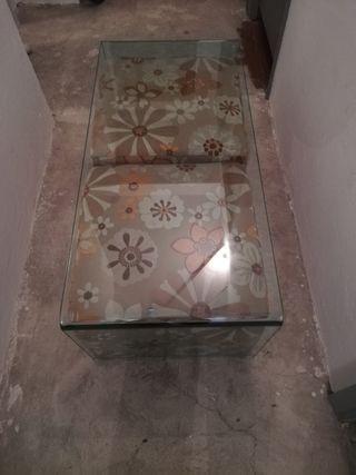 mesa centro cristal natuzzi