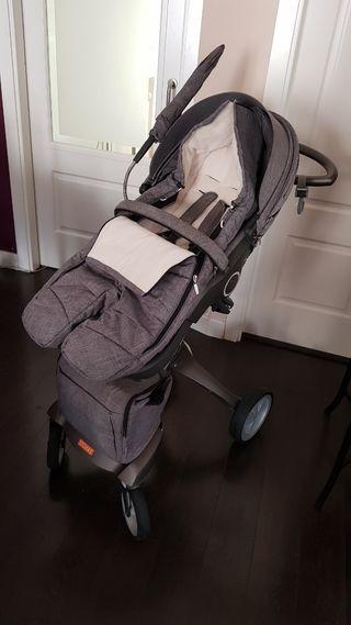 Stokke Xplori + capazo + silla Besafe + saco silla