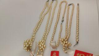REMATE Lote collares y pulsera perlas, Manacor.