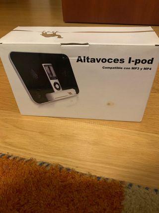 Altavoces I-pod compatibles con MP3 y MP4