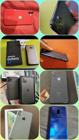 Variedad de teléfonos. iPhone/Samsung/Oppo