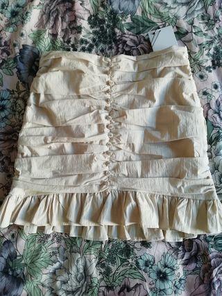 falda drapeada zara