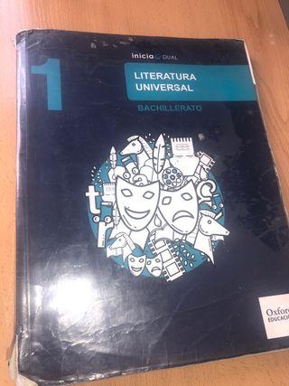 Libro LITERATURA UNIVERSAL (1bach)