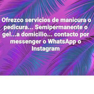 servicios a domicilio de manicura, pedicura o gel