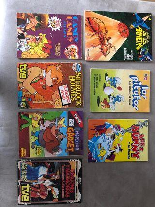 LOTE COMICS SERIES DE DIBUJOS ANIMADOS AÑOS 80.