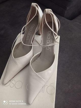 Zapatos de novia Rosa clara , seminuevos numero 36