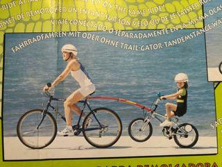 Remolque tandem bici