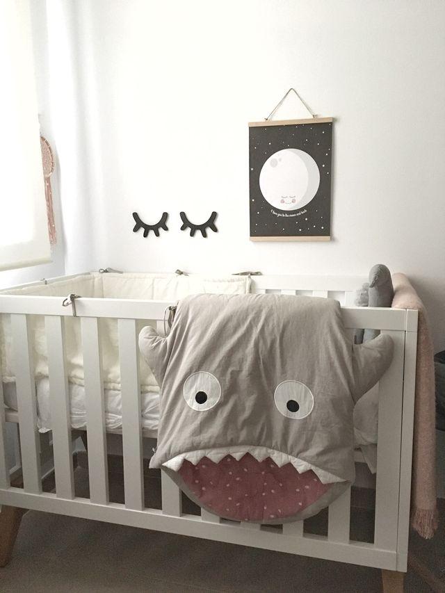 Cuna bebé estilo nórdico 120x60