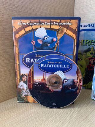 DVD Ratatouille y Shrek