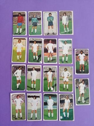 Este liga 77/78..Real Madrid.. Lote de 18 cromos..