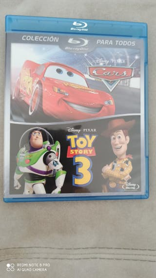 pack 2 bluray Disney Pixar Cars Toy Story 3