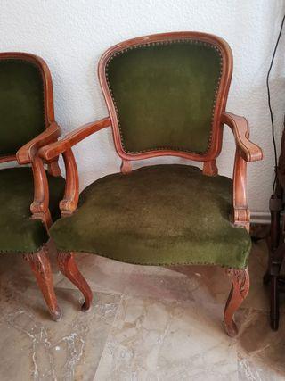 4 Sillas Luis XV Originales