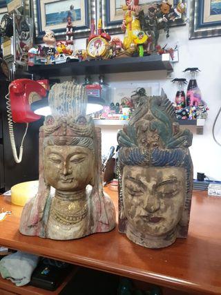 cabezas,bustos,tallas,diosas,dioses,indios,china