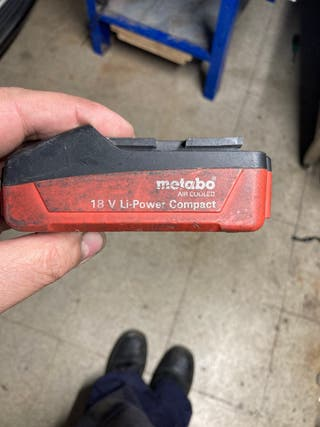 Bateria de taladro metabo 18 v