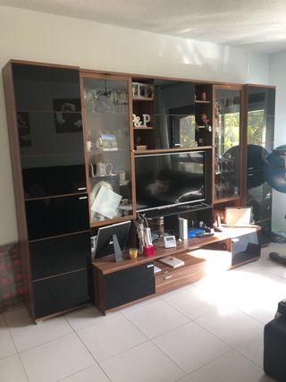 Mueble salón+aparador+mesa con 4 puff