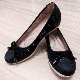zapatos Negros Cuña Un uso