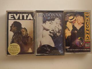 cintas Madonna: Evita, True Blue, Dick Tracy
