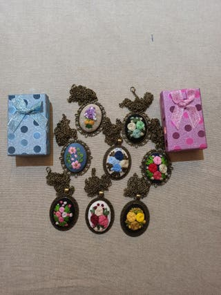 Handmade Embroidery Necklaces!!