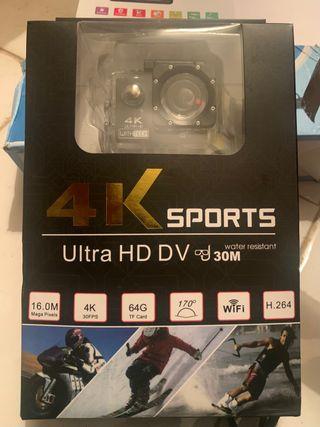Cámara deportiva Wifi 4K (Nueva)