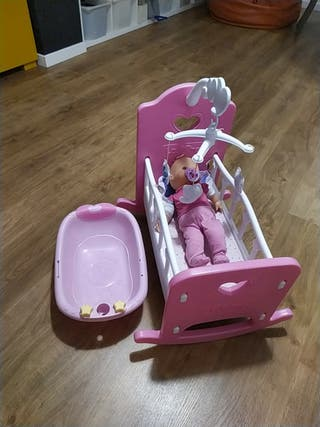 cuna para muñecos