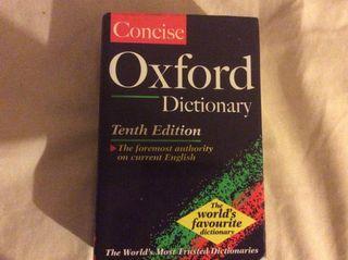 Diccionario oxford conciso Inglés 10 edición 1999