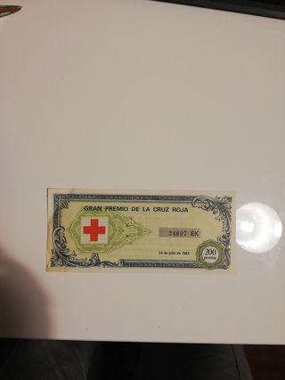 Billete del Gran Premio de la Cruz Roja, 1983