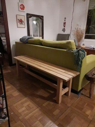 Banco de madera Ikea de segunda mano en la provincia de